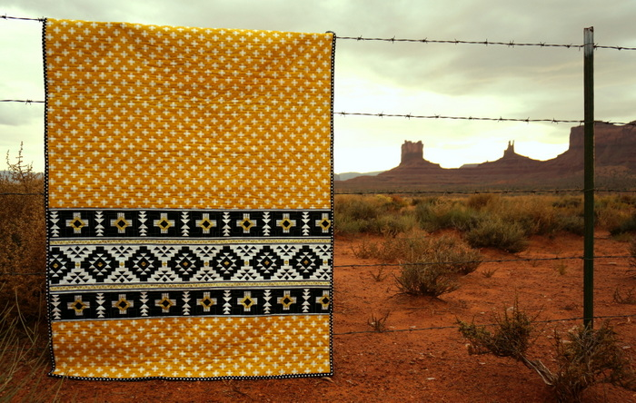 Southwest inspired panel quilt
