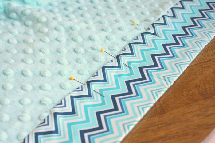 miterd-minky-baby-blanket-topstitch