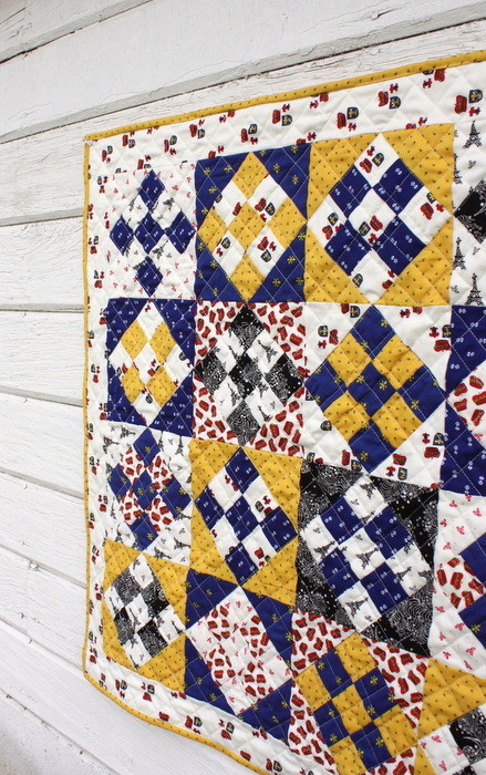 French nine patch quilt