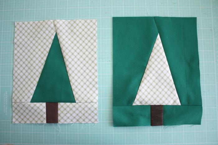 Modern Christmas Tree quilt blocks