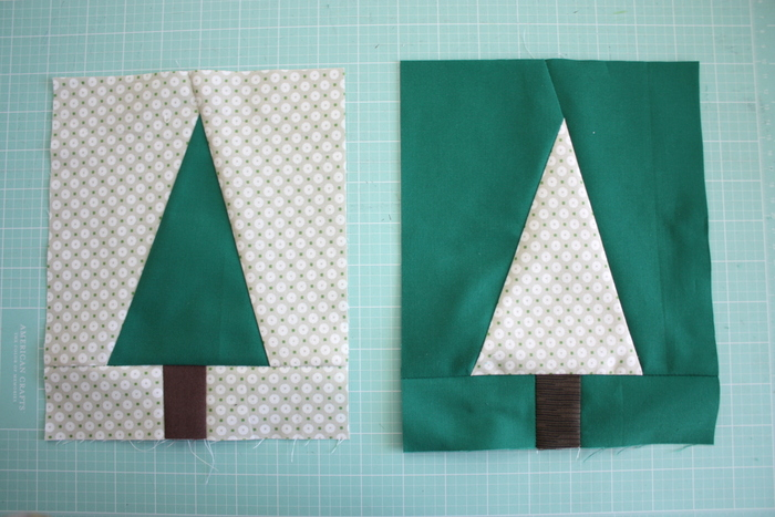 modern christmas tree quilt blocks