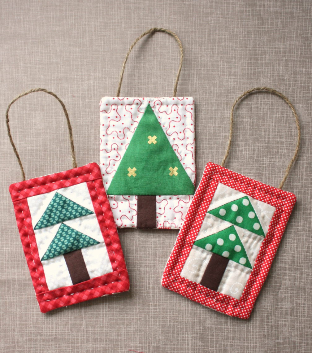 Mini Christmas Tree Quilt Ornament Tutoial Diary Of A Quilter A