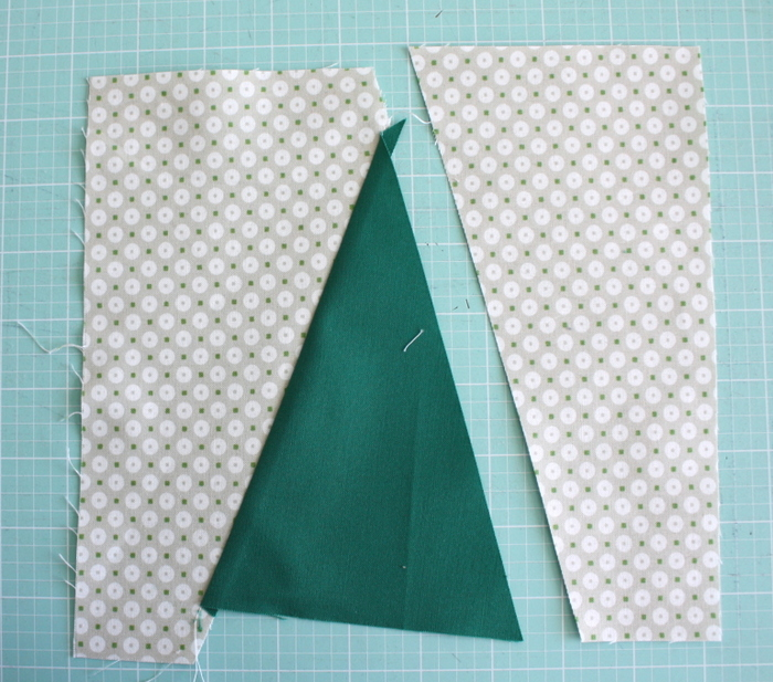 Modern Christmas Tree Quilt Block Pattern and Tutorial featured by top US quilting blog, Diary of a Quilter: sew Christmas Tree quilt block