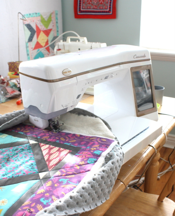 Sewing and quilting supplies featured by top US quilting blog, Diary of a Quilter: image of a Crescendo sewing machine