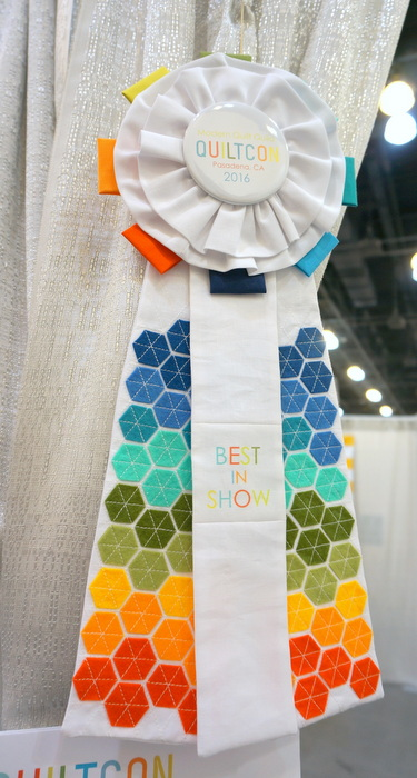 Best in Show ribbon QuiltCon