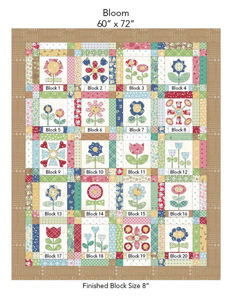 Bloom Sew Along with Lori Holt Quilt