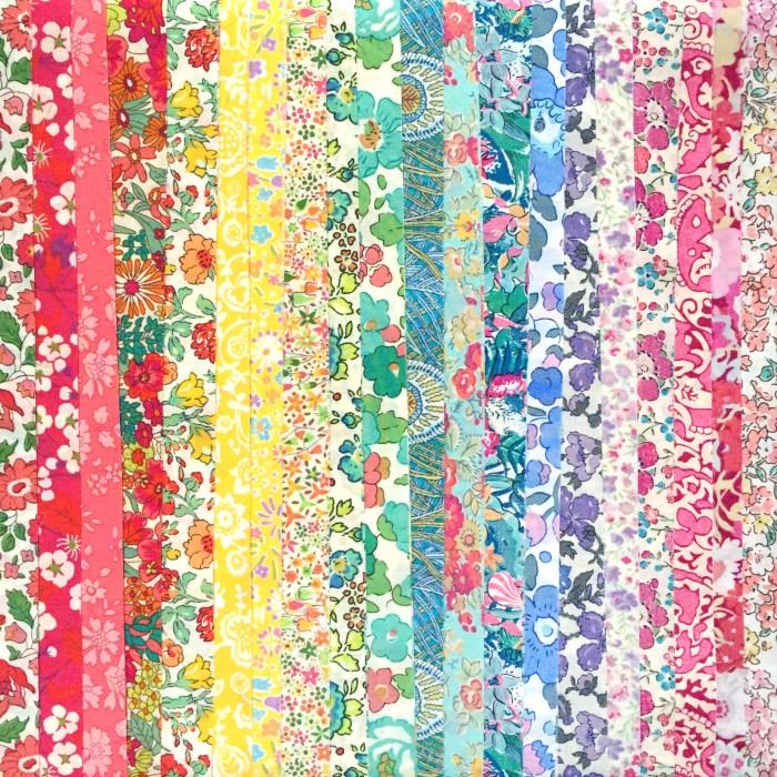 rainbow jelly roll unrolled