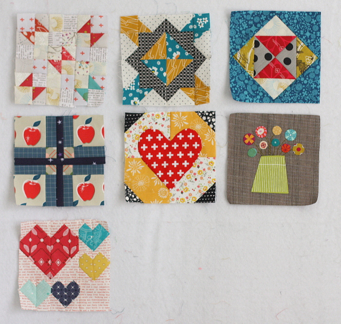 Splendid Sampler blocks 1-8