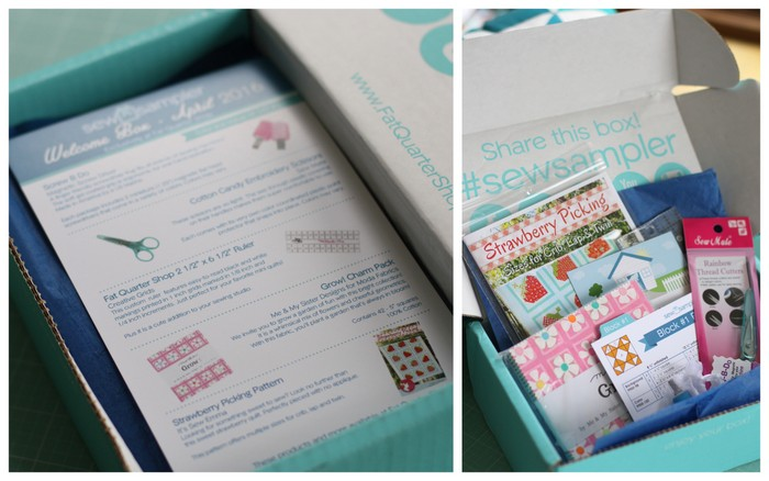 Sew Sampler Fat Quarter Shop box