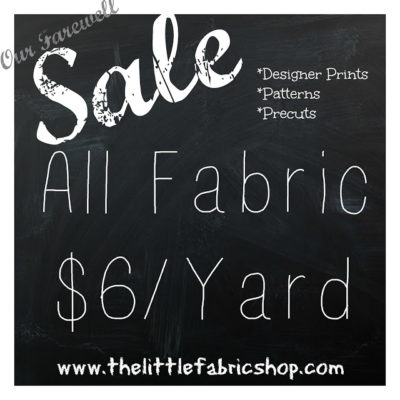 huge fabric sale