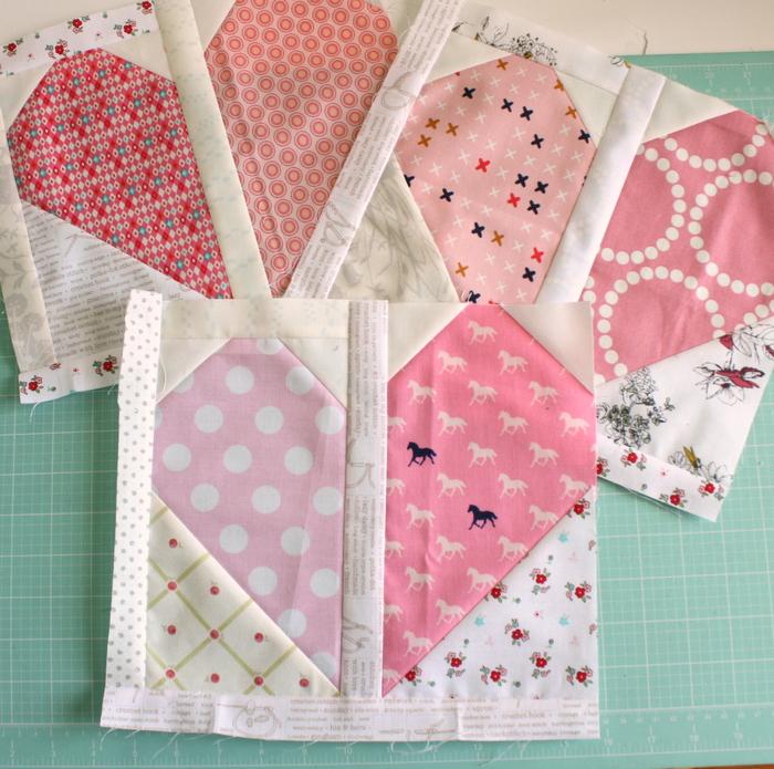 Half-hearted Quilt Blocks