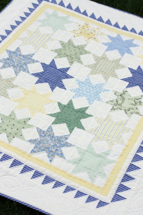 Sawtooth Star Quilt block tutorial