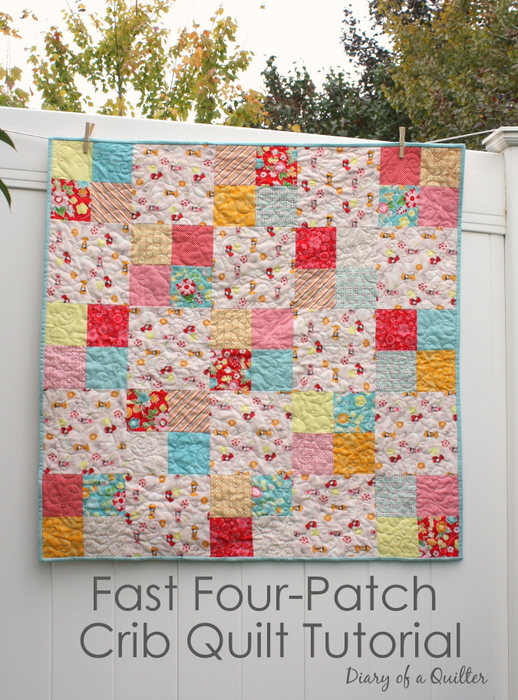 simple-four-patch-baby-quilt-tutorial