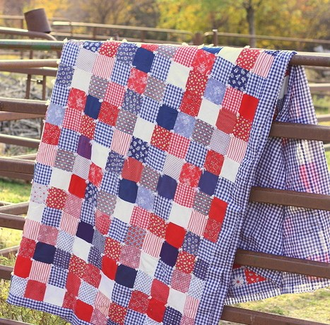 retro-gingham-patchwork-quilt