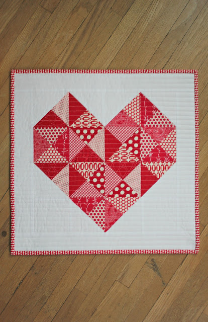 Canoe Ridge Creations heart mini quilt