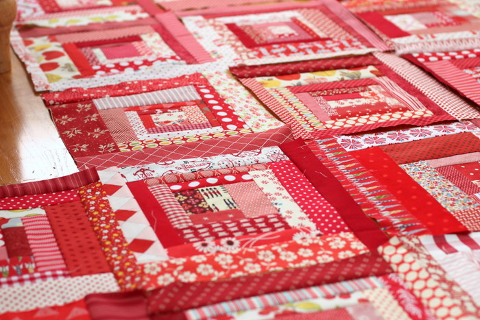 Red and White scrappy quilt