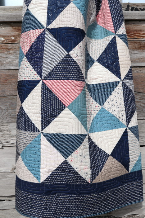 Indigo Blues Patchwork Quilt