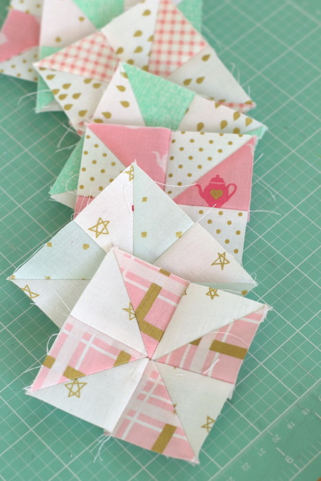 Pinwheel quilt blocks