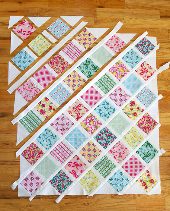 Free Baby Lattice Quilt Pattern Layout Diary Of A Quilter A Enchanting Free Baby Quilt Patterns For Beginners