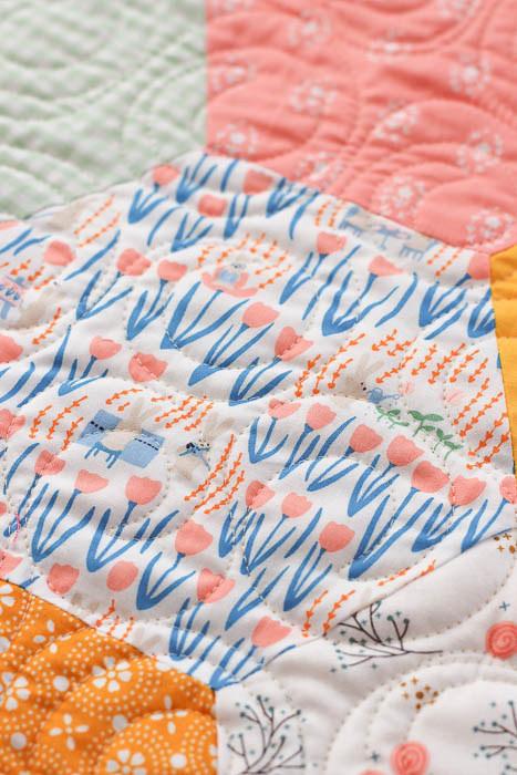 Garden Adventures bunny fabric from Dear Stella Fresh Dew