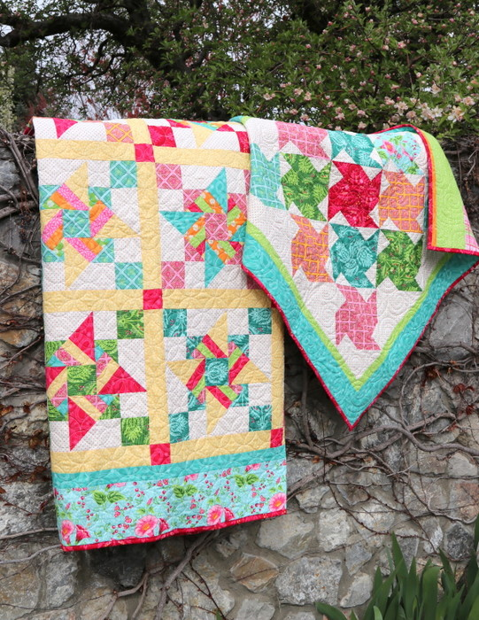 Free Video Class: Strip Piecing Quilt Patterns by popular Utah quilting blog, Diary of a Quilter: image of two strip piecing quilts.