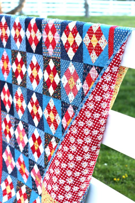 Stitch in Time Quilt pattern + Gingham Girls fabric by Amy Smart