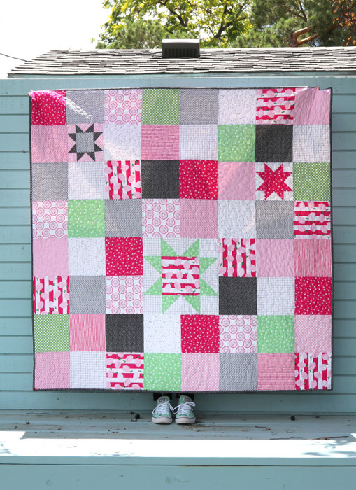 Using Sawtooth Star quilt blocks to spice up traditional patchwork