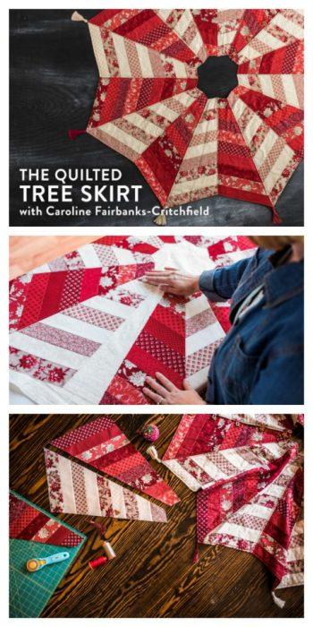 Quilted Tree Skirt Pattern + Class : quilt tree classes - Adamdwight.com