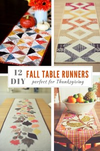 Table Runner Tutorials and Ideas for Fall