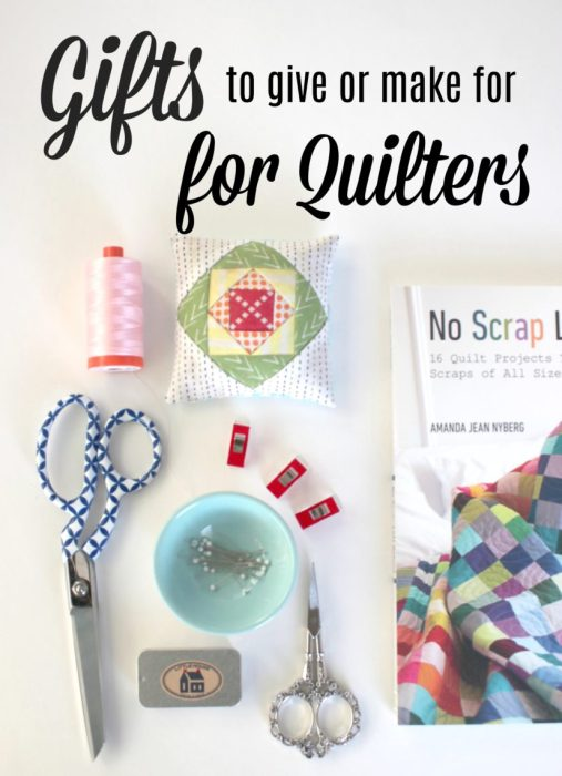 Gift Ideas for quilters - handmade gift ideas, notions, books, and sewing supplies