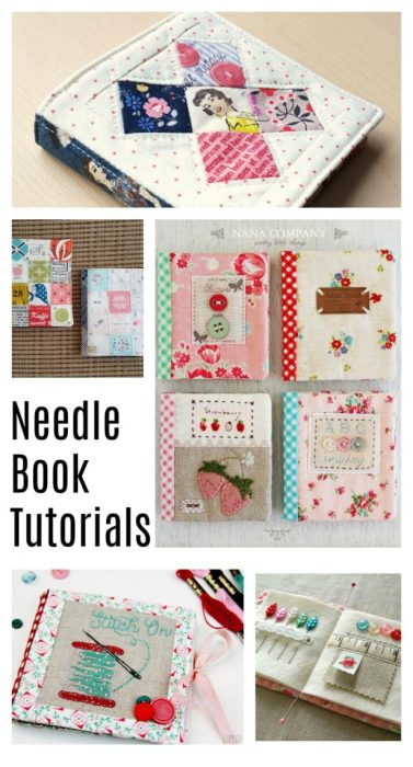 Handmade Needle Book tutorials - perfect gift for a friend who sews