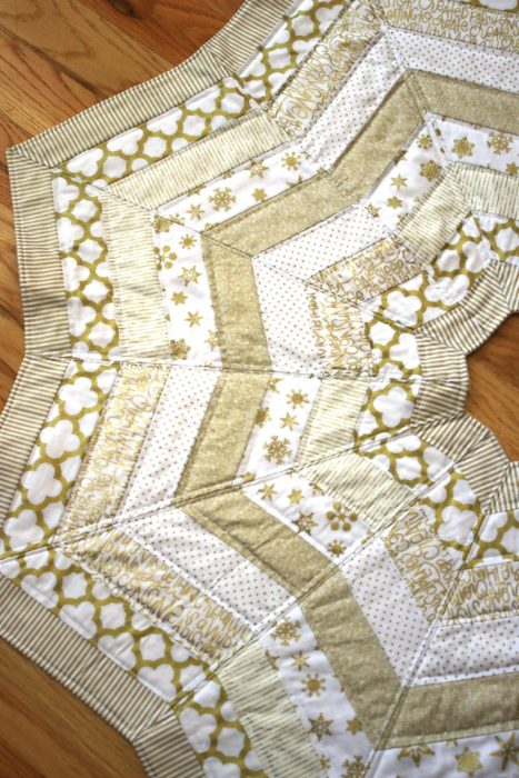 Gold Quilted Tree Skirt Pattern