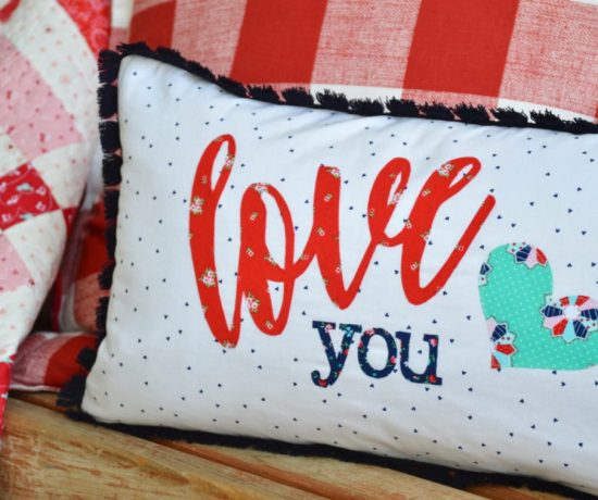 Fabric applique text tutorial