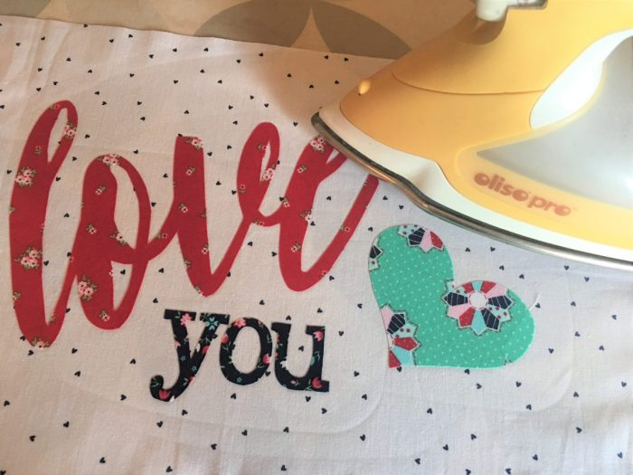 Love applique pillow project