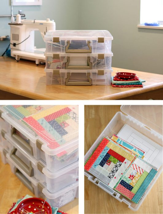 Top 10 Sewing Room Organization Tips featured by top US sewing blog, Diary of a Quilter: Tips for quilt project organization
