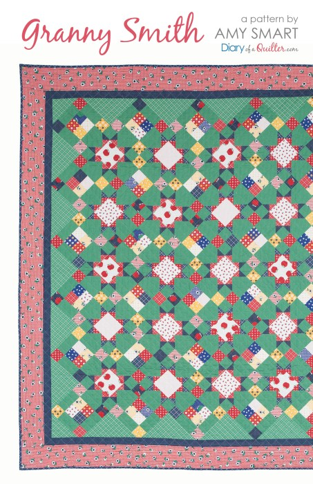 Scrappy Granny Smith Quilt Pattern precuts friendly