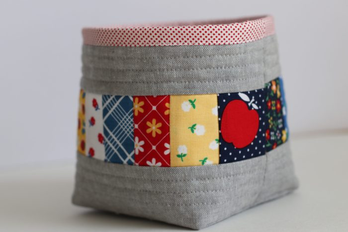 Sewing Chick Thread Catcher featuring Sunnyside Ave fabrics