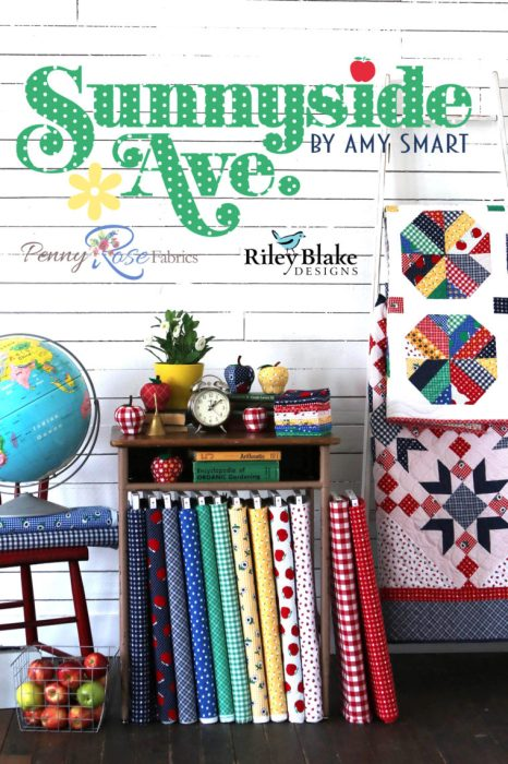 Sunnyside Ave fabric collection - bright colors and prints with vintage nostalgia - by Amy Smart
