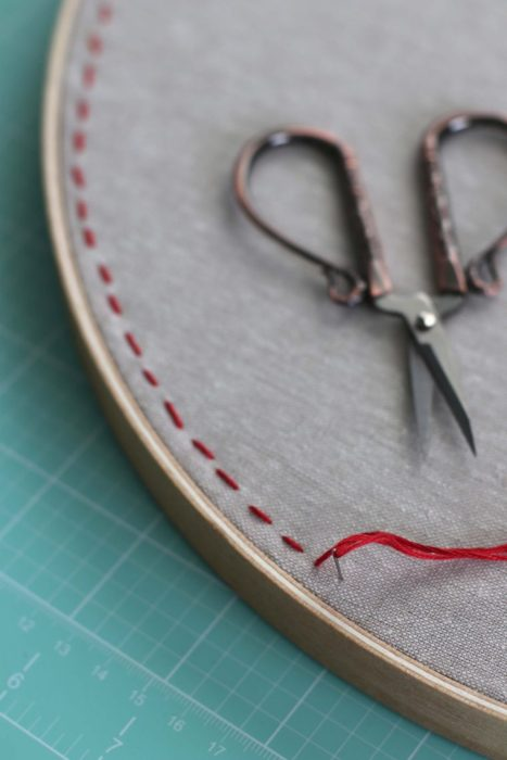 Diy ideas for enamel pin display from there i used some embroidery floss 6 strands and an embroidery needle to do some simple handstitching 14 away from the outside edge of the hoop solutioingenieria Choice Image