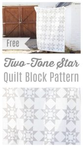 Free Two Tone Star Quilt Block Pattern