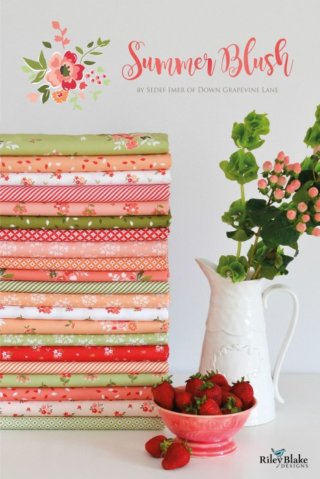 Summer Blush fabric by Sedef Imer for Riley Blake Designs