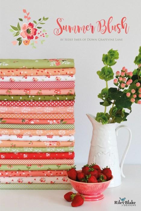Summer Blush fabric by Sedef Imer for Riley Blake Designs