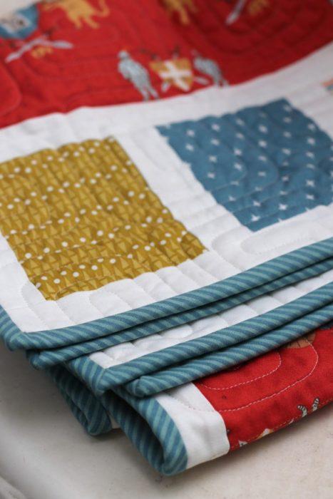 Bias Stripe Quilt Binding
