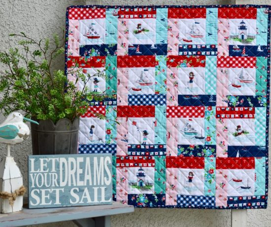 Seaside Fussy Cut Mini Quilt Tutorial