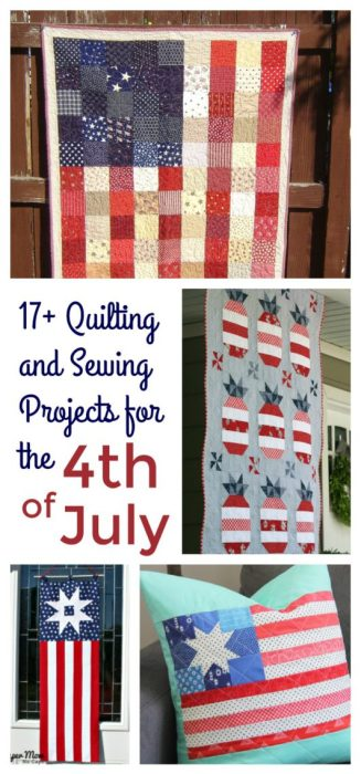 Quilting and Sewing project ideas for the 4th of July