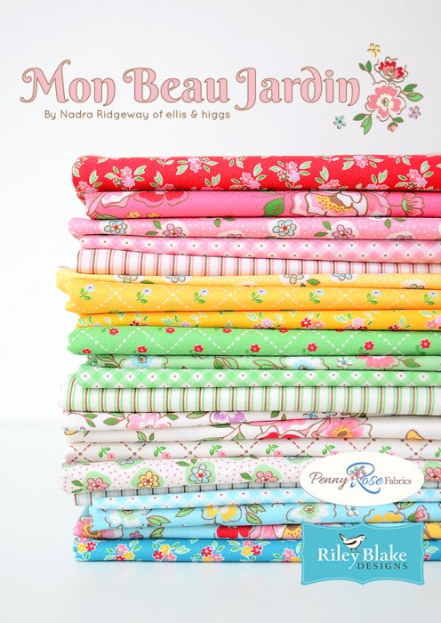 Mon Beau Jardin Fabric Collection Riley Blake Designs