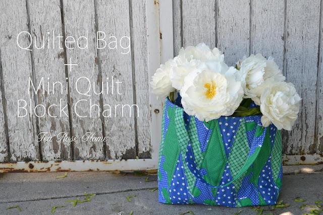 Quilted Bag in Sunnyside Ave Fabrics tutorial