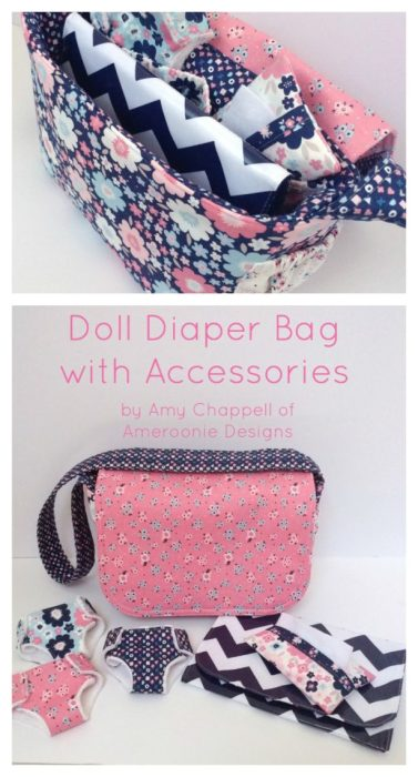 Doll Diaper Bag and Accessories Tutorials by Ameroonie Designs