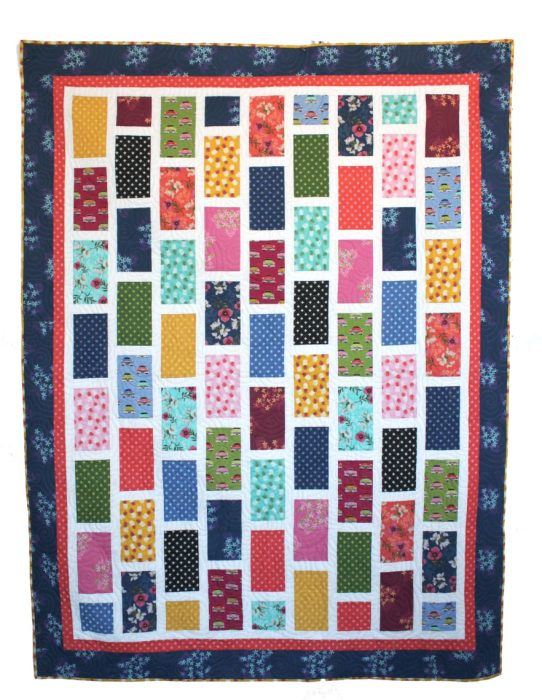 Brickyard Quilt Pattern Throw size by Amy Smart