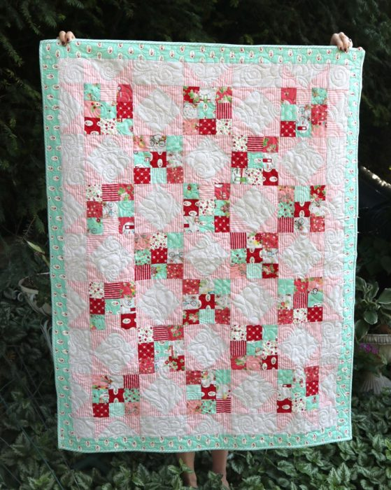Precuts-friendly nine-patch baby quilt tutorial